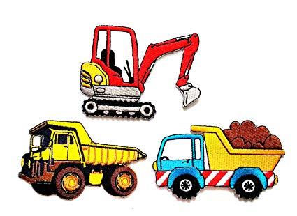 Nipitshop patches set of. Backhoe clipart dump truck