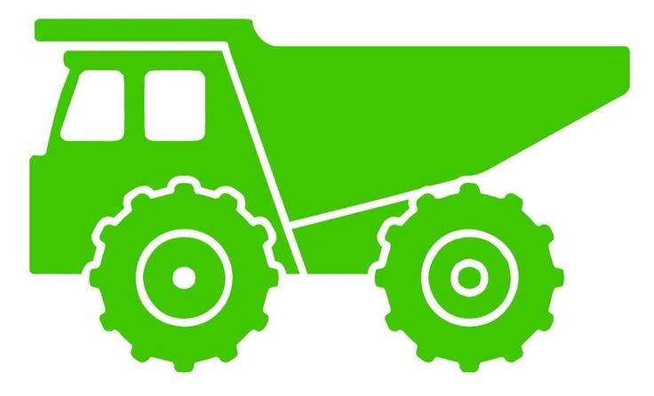 Silhouette google search kid. Backhoe clipart dump truck