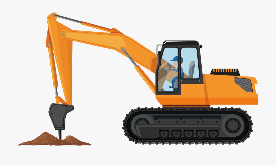 Backhoe clipart earthmoving equipment. Jackhammer excavator heavy architectural