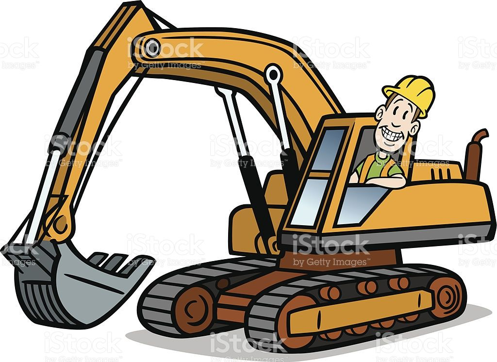Great illustration of a. Backhoe clipart earthmoving equipment