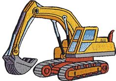 Heavy bulldozer vector clip. Backhoe clipart earthmoving equipment