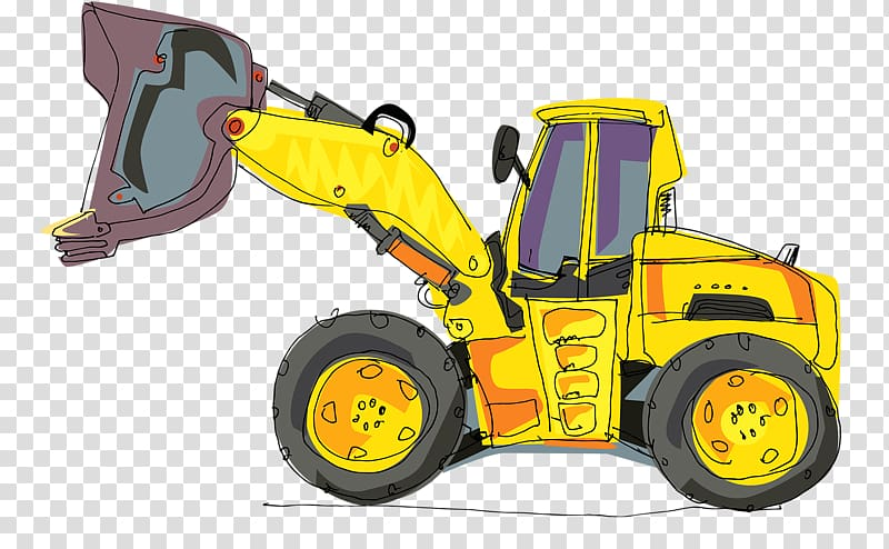 Backhoe clipart earthmoving equipment. Excavator heavy cartoon powerful