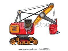 Backhoe clipart engineer equipment. Excavator cartoon clip art