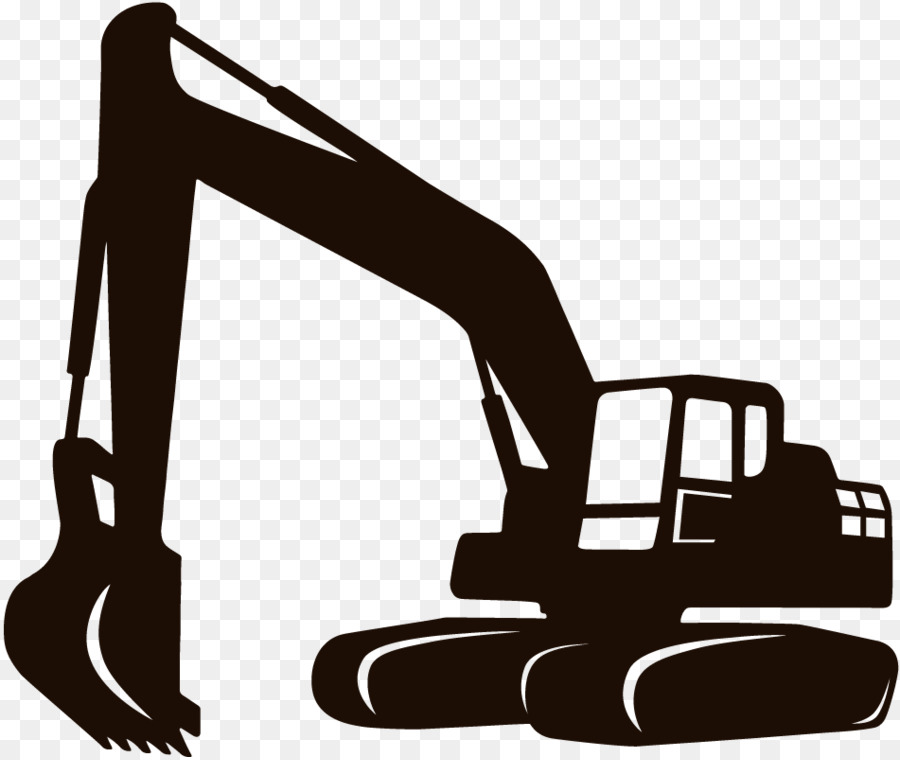 Free silhouette download clip. Backhoe clipart engineer equipment