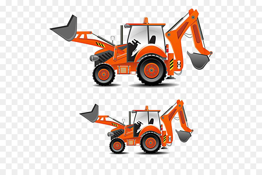 Tractor heavy architectural engineering. Backhoe clipart engineer equipment