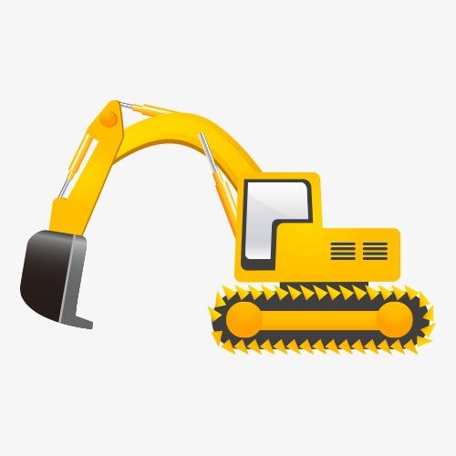 Backhoe clipart engineering equipment. Cartoon vehicles vector construction