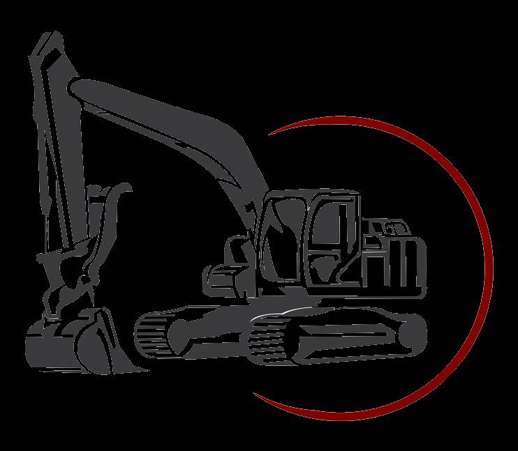 Excavator architectural machine clip. Backhoe clipart engineering equipment