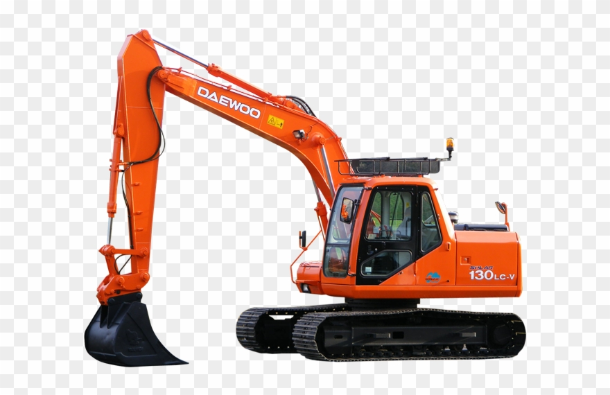 Backhoe clipart excavation. Graphic library download bulldozer