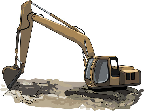 Backhoe clipart excavation. Free excavator cliparts download