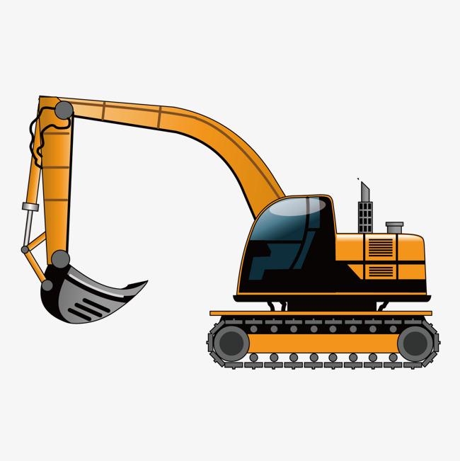 Backhoe clipart excavation. Vector digging machine excavator