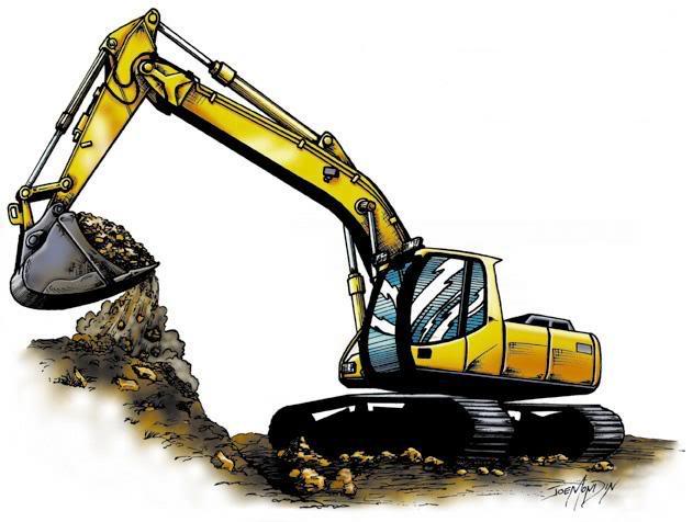 Excavating free download best. Backhoe clipart excavation