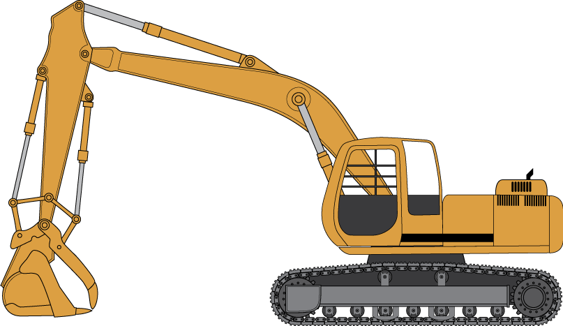 collection of cat. Backhoe clipart excavator arm
