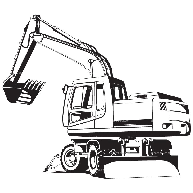 Backhoe clipart excavator arm.  collection of cat