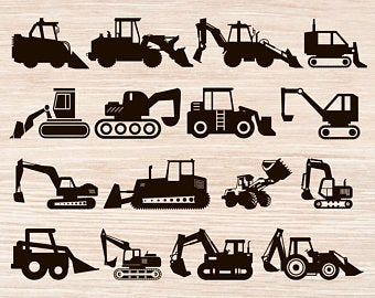 Etsy . Backhoe clipart excavator arm