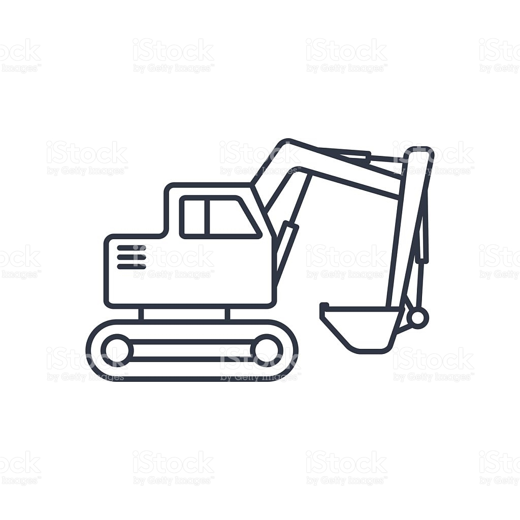 Backhoe clipart excavator arm. Sketch at paintingvalley com