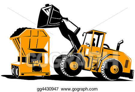 End drawing free download. Backhoe clipart front loader