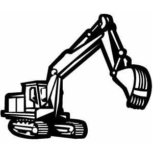 Backhoe clipart front loader. Construction signs printable free
