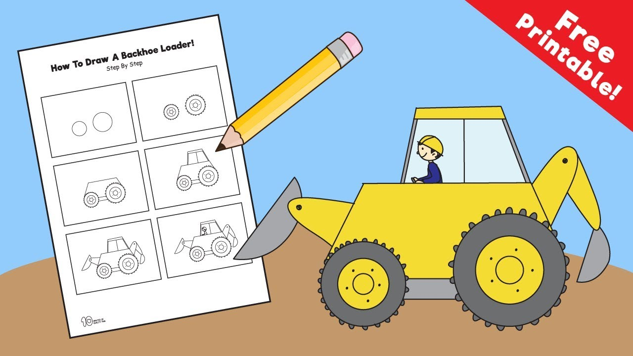 Backhoe clipart front loader. Drawing at getdrawings com