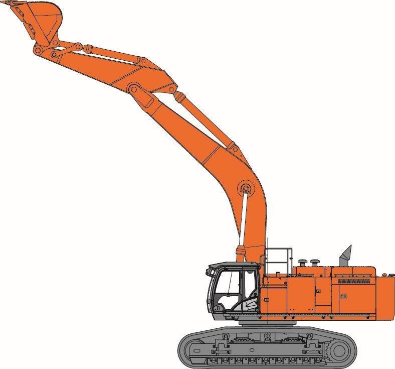 Backhoe clipart gambar. Ex hitachi construction machinery