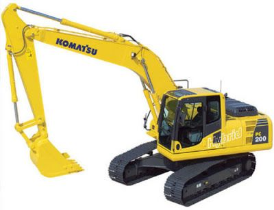 best komatsu workshop. Backhoe clipart gambar