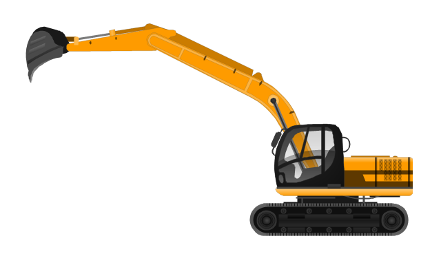 Excavator clipart mounted. Transparent png pictures free