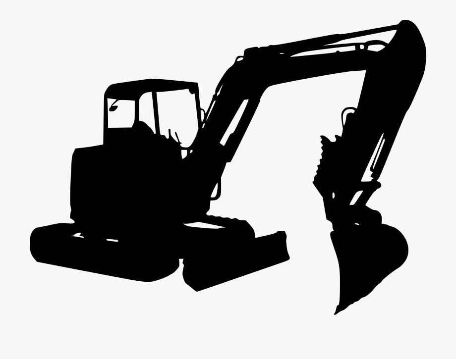 Backhoe clipart heavy equipment. Excavator transparent construction