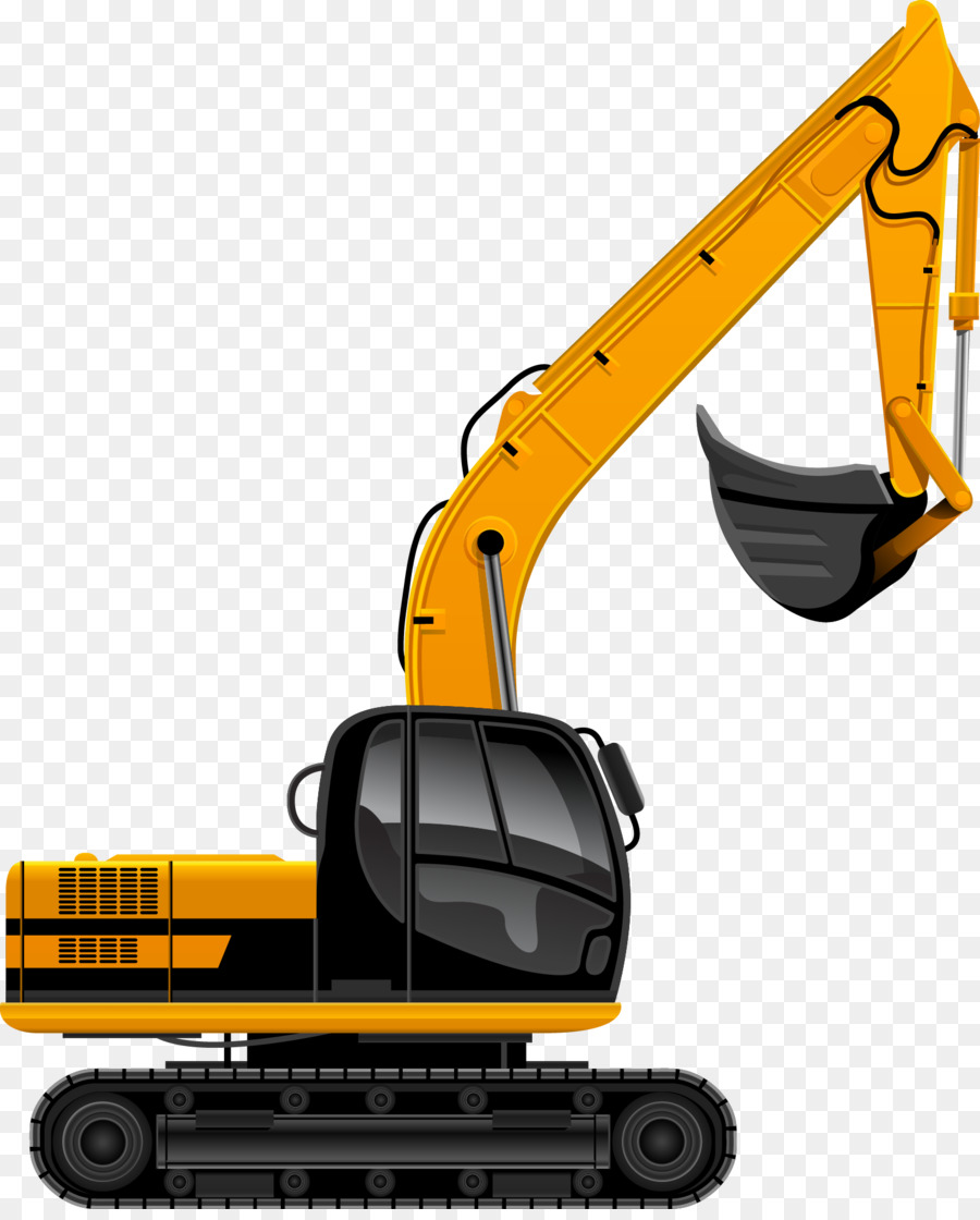 Backhoe clipart heavy equipment. Excavator architectural engineering png