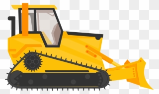 Backhoe clipart heavy equipment. Bulldozer excavator machinery construction