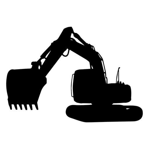 Backhoe clipart heavy equipment. Excavator machinery architectural engineering
