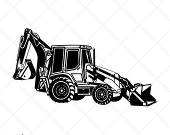 Clip art etsy backhoeloader. Backhoe clipart logo