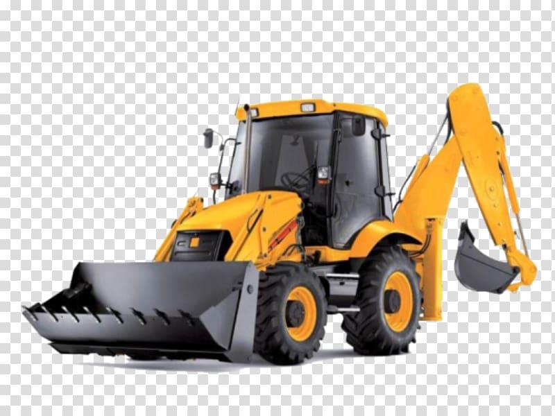 Loader excavator transparent . Backhoe clipart machine jcb