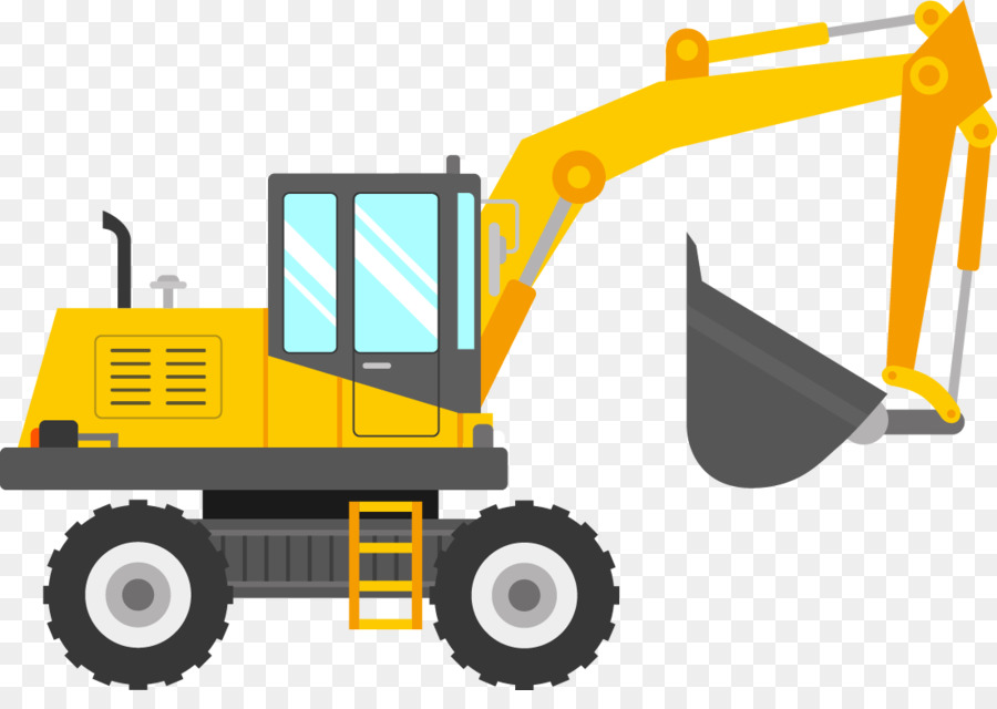 Liebherr group excavator sticker. Backhoe clipart machine jcb
