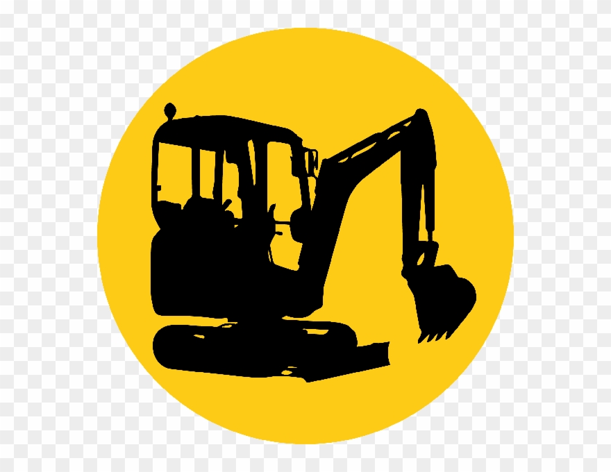 Silhouette at getdrawings png. Backhoe clipart mini digger