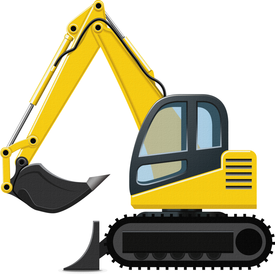 Excavator clipart front end loader. Pin by rubith on