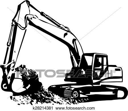 Excavator letters of k. Backhoe clipart mini digger