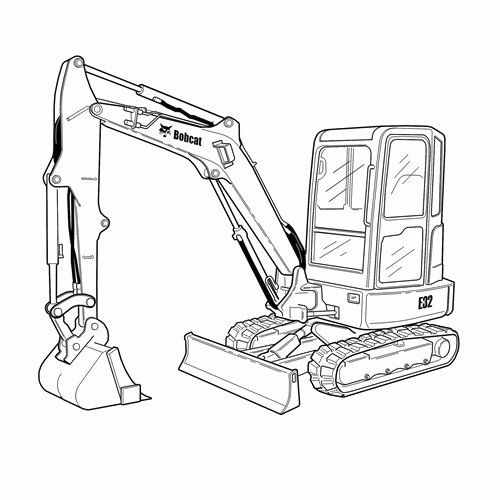 Drawing at getdrawings com. Backhoe clipart mini digger