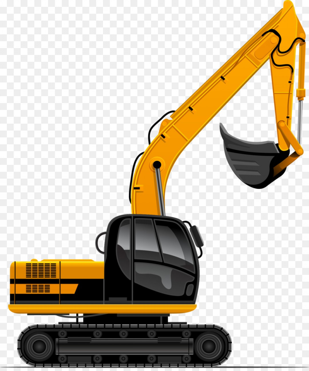 Backhoe clipart mining equipment. Vector art handandbeak