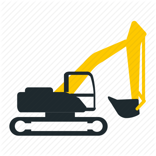 icons by yaroslav. Backhoe clipart mining equipment