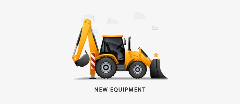 Clip black and white. Backhoe clipart plant machinery