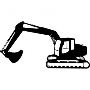 Construction equipment at getdrawings. Backhoe clipart silhouette