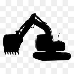 Excavator graphic arts clip. Backhoe clipart silhouette