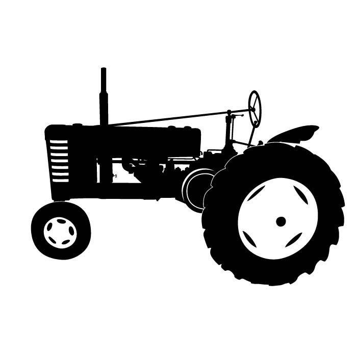 Bright idea tractor black. Backhoe clipart silhouette