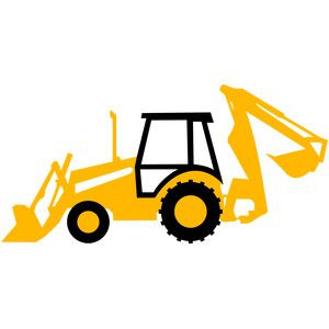 Backhoe clipart silhouette. Tractor design silhouettes and