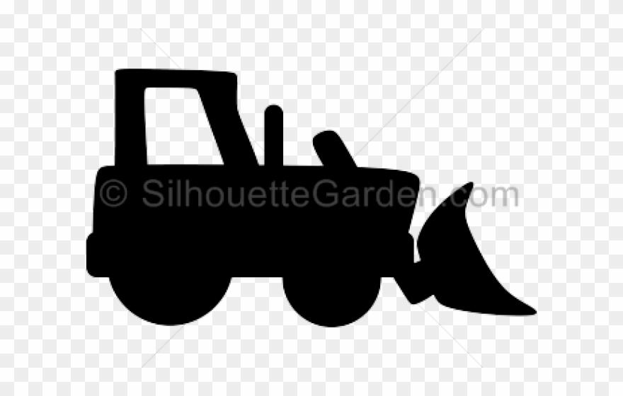 Bulldozer silhouette clip art. Backhoe clipart simple