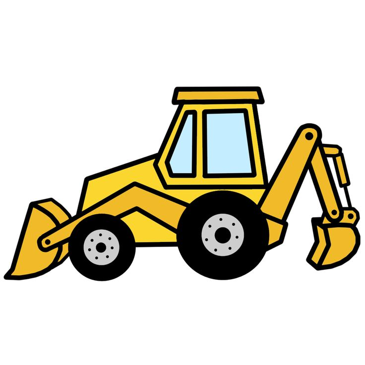 Backhoe clipart simple. Drawing free download best