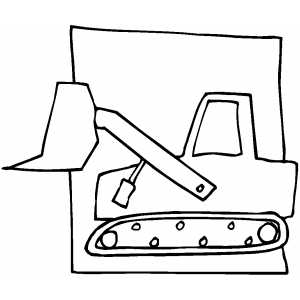Drawing at getdrawings com. Backhoe clipart simple