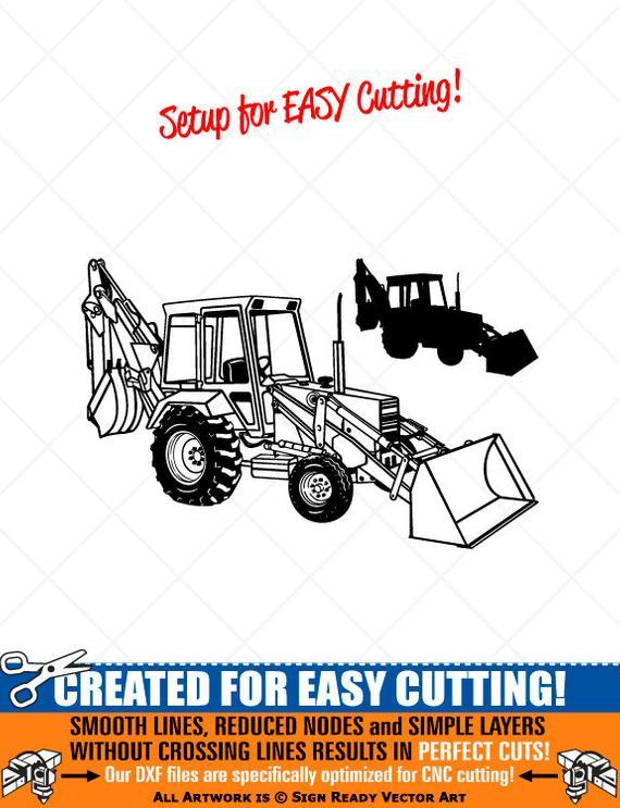 Backhoe clipart simple. Loader vector clip art