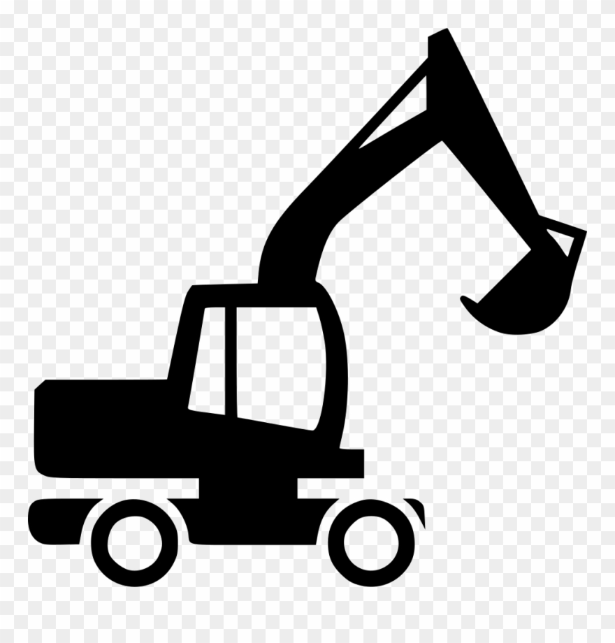 Backhoe clipart svg. Excavator icon free download