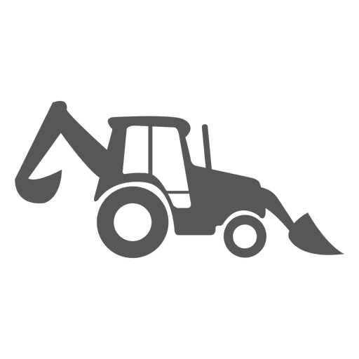 Front and loader icon. Backhoe clipart svg