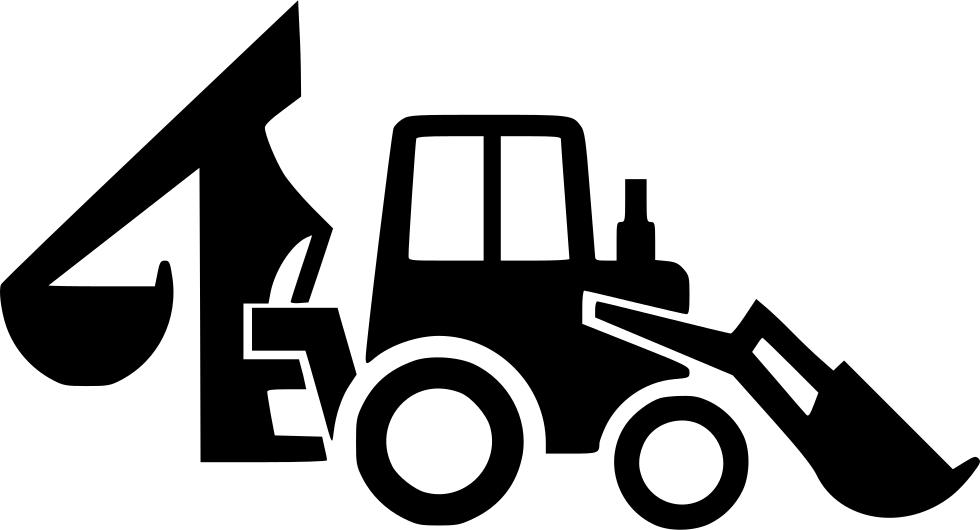 Backhoe svg png icon. Excavator clipart loader